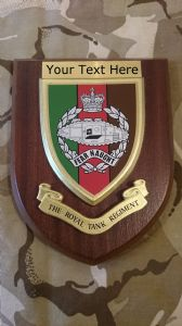 Royal Tank Regiment RTR Personalised Military Wall Plaque